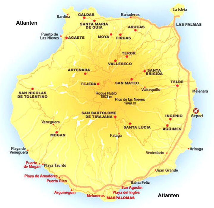 gran kanarieöarna karta San Agustin gran kanarieöarna karta